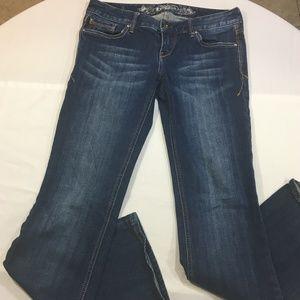 Express Womens Denim Jeans Boot Cut Size 2 Regular